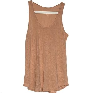 J.Crew 100% Linen Burnout Tank Top U-Neck Small